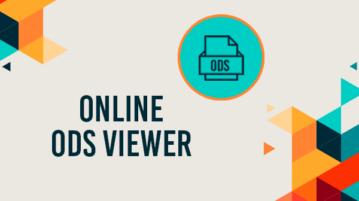 Online ODS Viewer