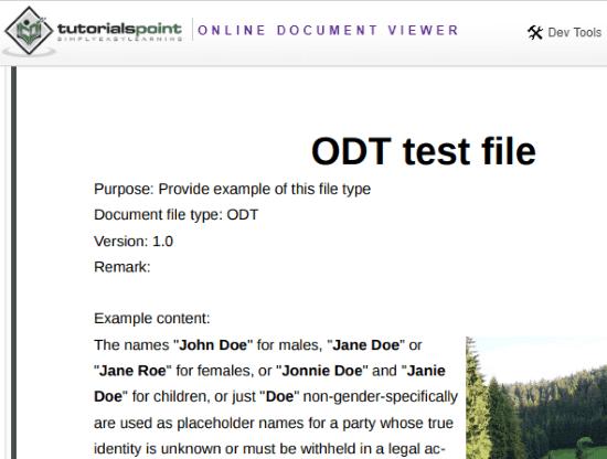 Online ODT Viewer