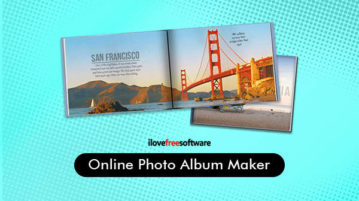 Online photo album maker