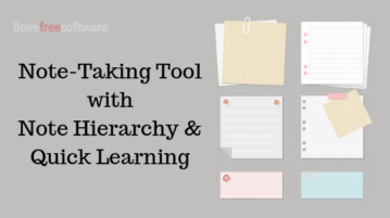 Online Note Taking Tool with Content Structuring, Flashcard for Practice