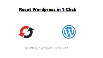 Reset Wordpress Website in 1-Click