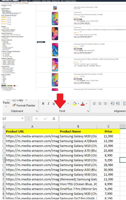 Scrape Amazon Listing in Excel