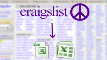 Scrape Craigslist Listings in Excel Free