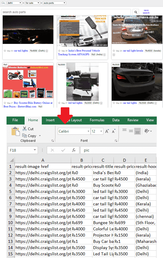 Scrape Craigslist Listings in Excel with these Free Chrome Extensions