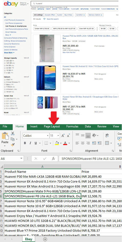 Scrape Products Listing from Ebay with these Chrome Extensions Free