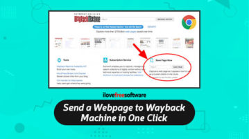 Send a Webpage to Wayback Machine in One Click
