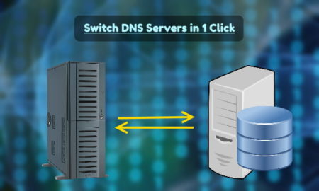Switch DNS Servers from System Tray in Windows 10 in 1 Click