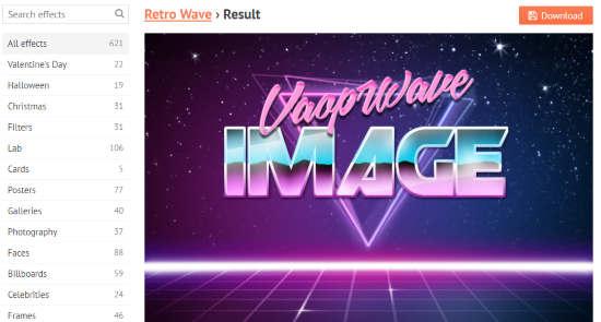 Vaporwave image generator