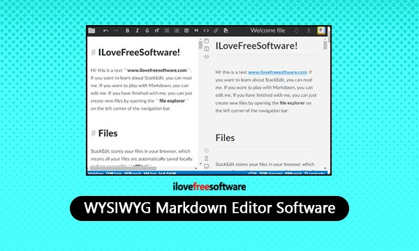 4 Free WYSIWYG Markdown Editor Software for Windows