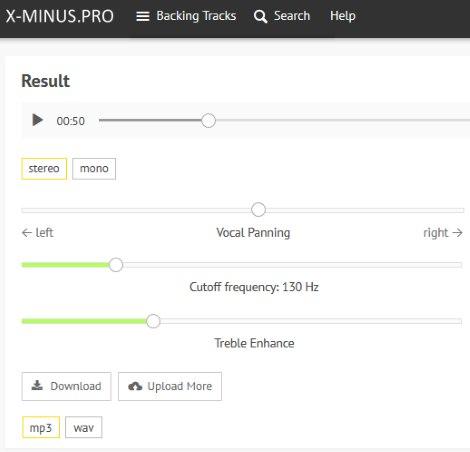X-Minus.Pro interface