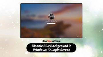 disable blur background in windows 10 login screen