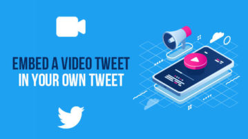 embed a video tweet in your own tweet