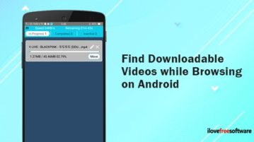 find downloadable videos while browsing on android