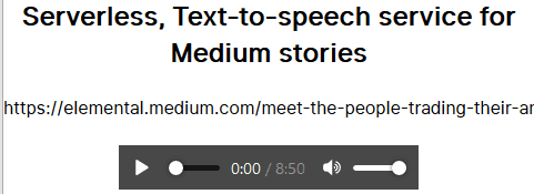 free text to speech service to listen to medium articles