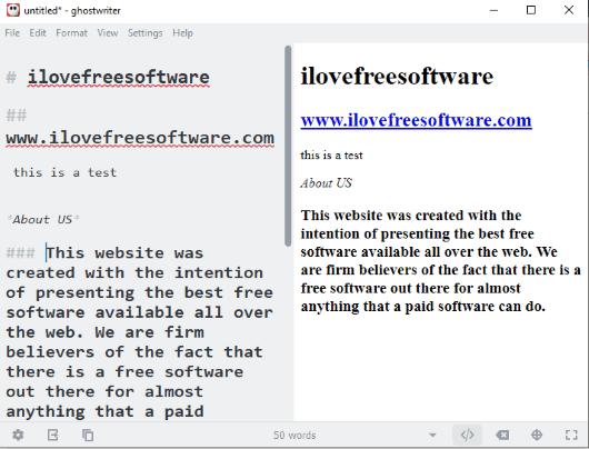 ghostwriter- interface