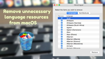 macOS app to Remove Language Localization Files