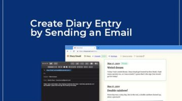 make diary entry by sending an email