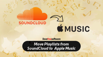 move playlists from soundcloud to apple music