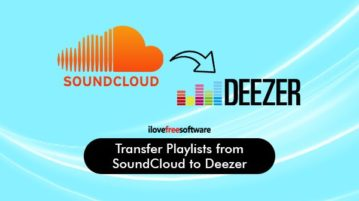 move playlists from soundcloud to deezer