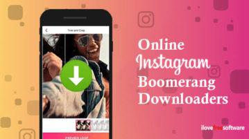 online instagram boomerang downloaders
