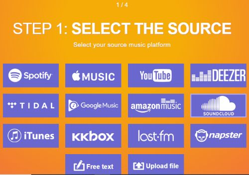 select SOUNDCLOUD