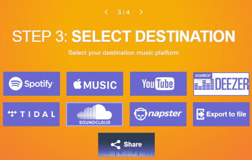 select soundcloud as destination