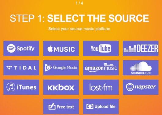 select soundcloud as source