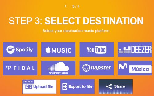 select soundcloud option