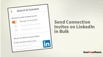send connection invites on linkedin in bulk