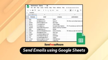 send emails using google sheets