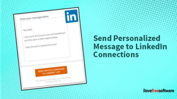 send personalized message to linkedin connections