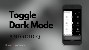 How to Toggle Dark Mode in Android Q?