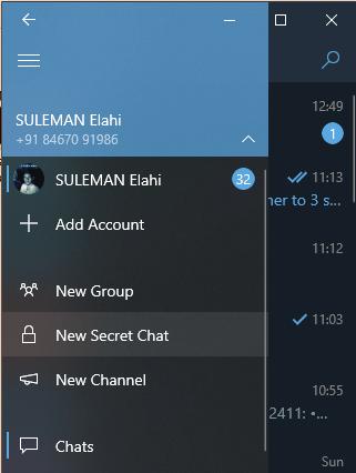 unigram secret chat