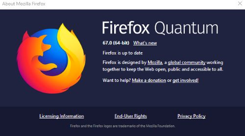 update firefox to latest version