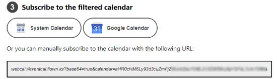 use Google Calendar button