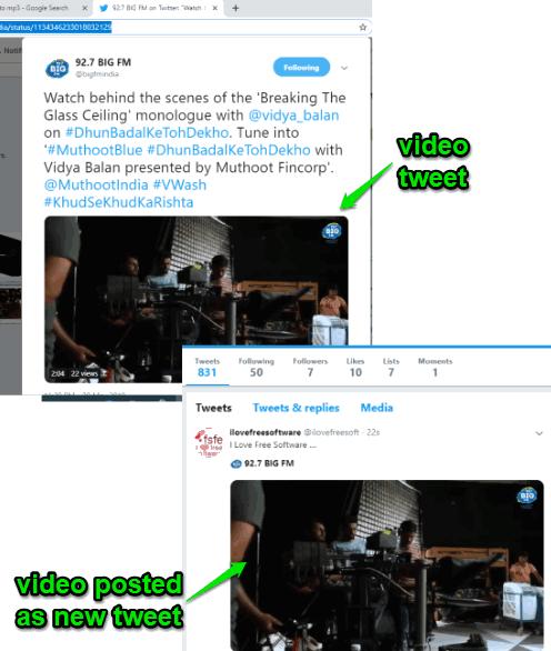 video tweet embedded in own tweet