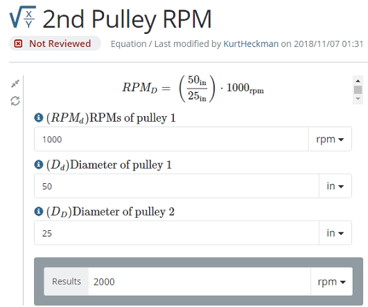 2nd Pulley Calculator Home