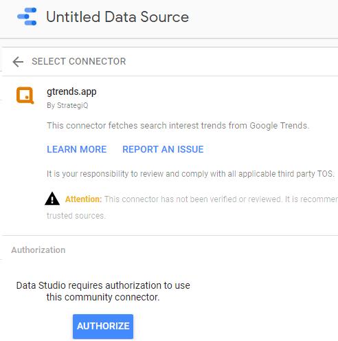 Add gtrends.app connector to Data Studio