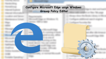 Configure edge from group policy