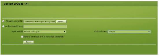 Convert EPUB to TXT Online
