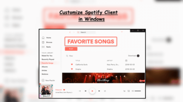 Customize Spotify Client Change Colors, Add Features