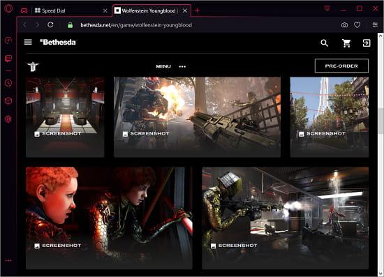 Game details opera gx
