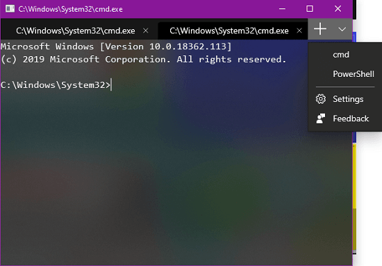 How to use New Terminal App from Microsoft with Tabs, Interactive Text