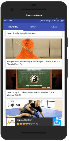Kung Fu training apps for Android