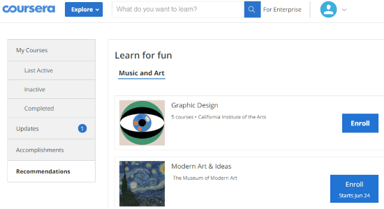 MOOC search engine