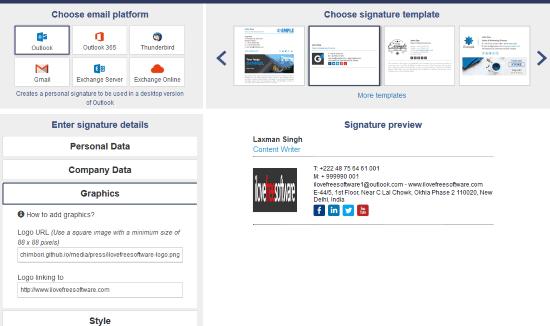 Mail-signatures.com website