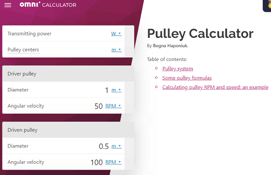 5 Online Pulley RPM Calculator Free