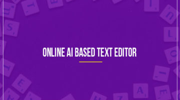 Online AI Based Text Editor