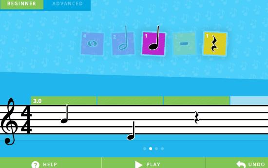 Online music maker for kids