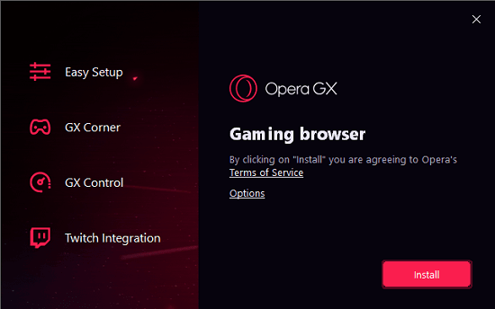 Opera GX Gaming Browser with Twitch Integration, Ram Limiter, VPN